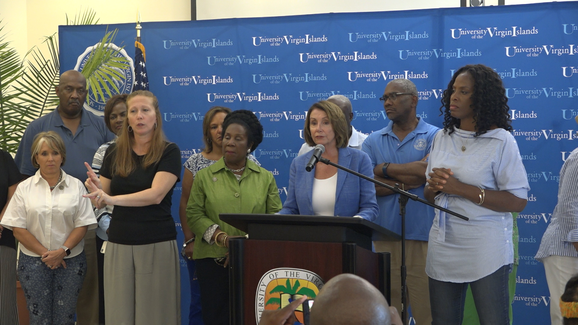 Rep. Plaskett leads Congressional delegation on recovery tour
