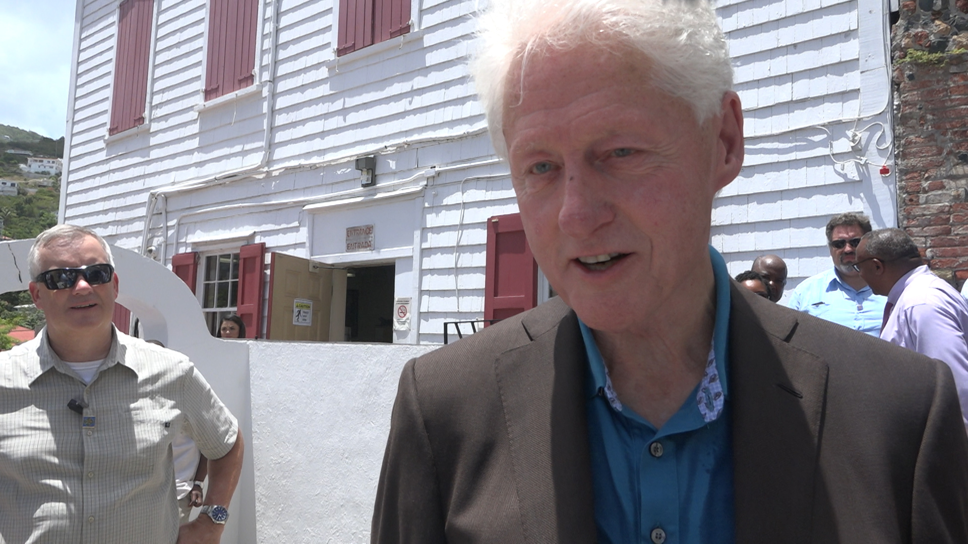 Former President Bill Clinton visits Virgin Islands with news of solar future
