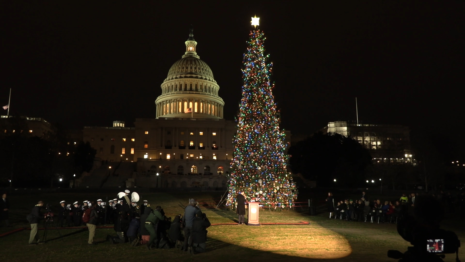 U.S. Capitol Christmas Tree now lit and on display
