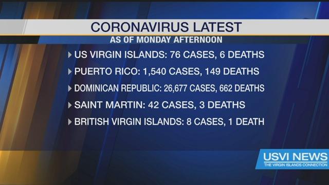 Coronavirus Latest as of Monday Afternoon