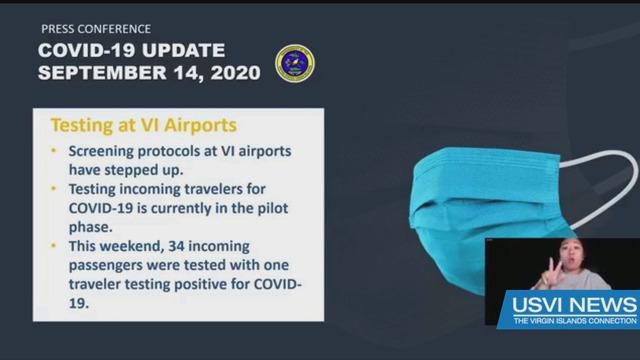 Coronavirus Testing at Territory Airports