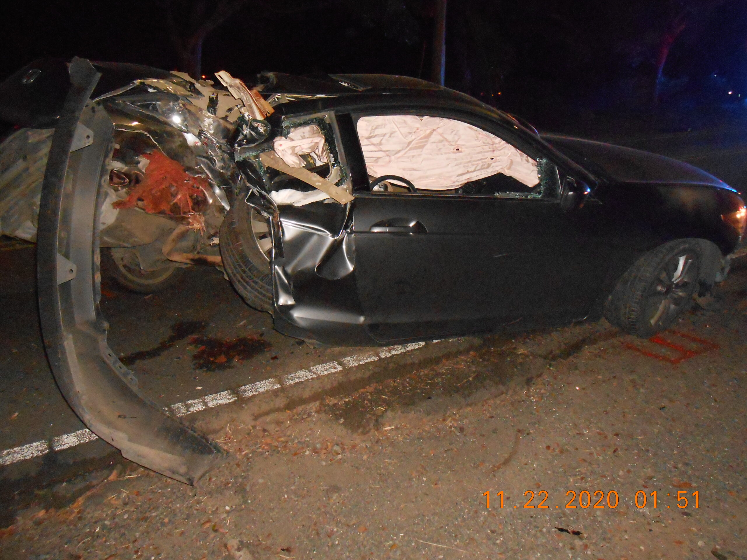Man Injured in Single-Car Accident